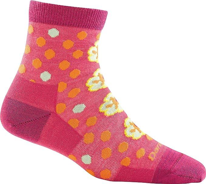 eb0525693297 Darn Tough Women's Merino Wool Flower Power Shorty Light Socks Hot Pink  Small DISCONTINUED