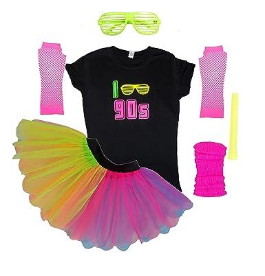 Honey B S I Love 90s Neon Tutu Set Skirt 90 S Fancy Dress Party