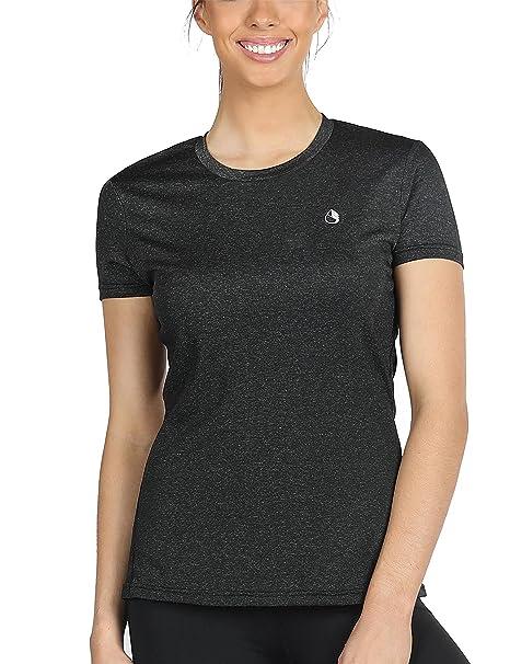 icyZone® Damen Sport T-Shirt Running Fitness Shirts Sportbekleidung Kurzarm  Oberteile Shortsleeve Top  Amazon.de  Bekleidung 39294d5fec