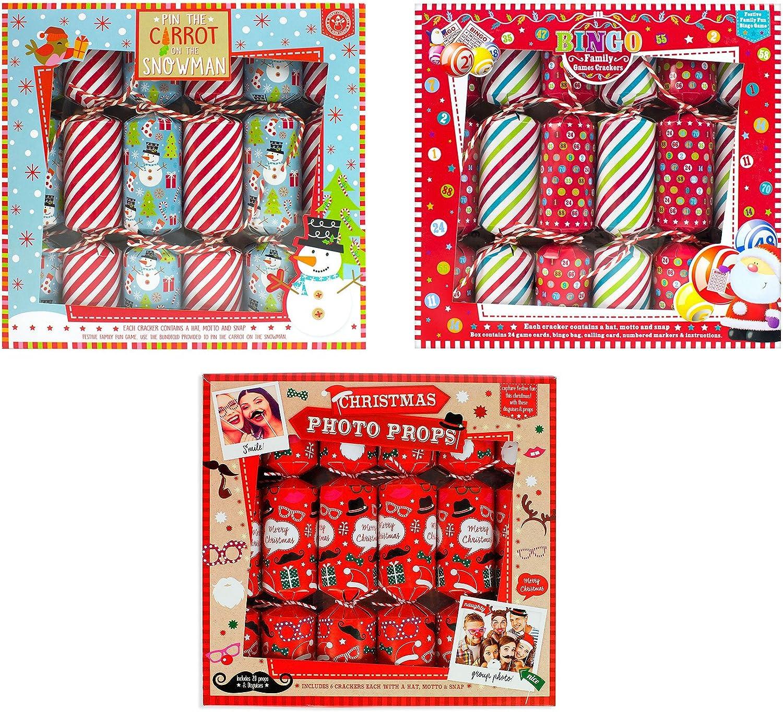 Christmas Photo Props Family Game Crackers RSW International Ltd Christmas Cracker 6 Pack