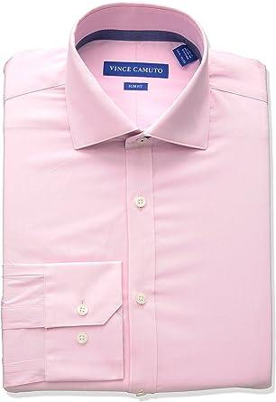 Vince Camuto Hombre VD514SV0690 Cuello Tipo Italiano Manga Larga Camisa de Vestir: Amazon.es: Ropa y accesorios