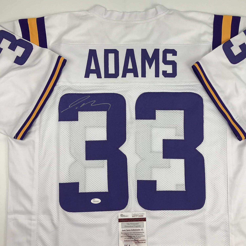 brand new 2e91b ae21c Autographed/Signed Jamal Adams LSU White College Football ...