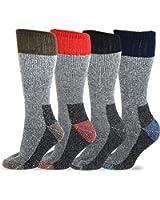 TeeHee Heavyweight Outdoor Wool Thermal Boot Socks 4-Pack