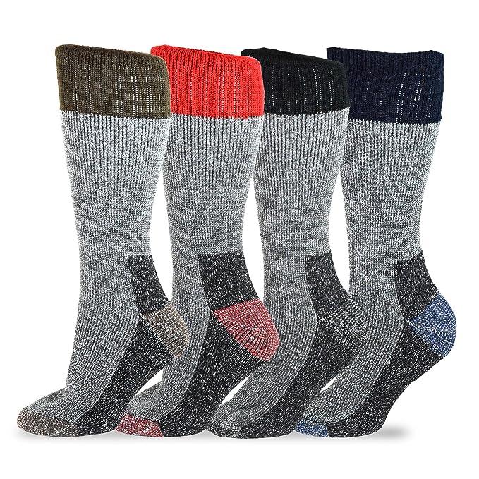 TeeHee Socks teehee Heavyweight exterior térmico - Calcetines para botas de lana para hombres y mujeres: Amazon.es: Ropa y accesorios