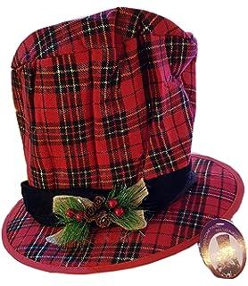 Tosend Puntale Cappello Cilindro Scozzese - 20x32 cm - Addobbi Natalizi -  Luci di Natale e14a766368bf