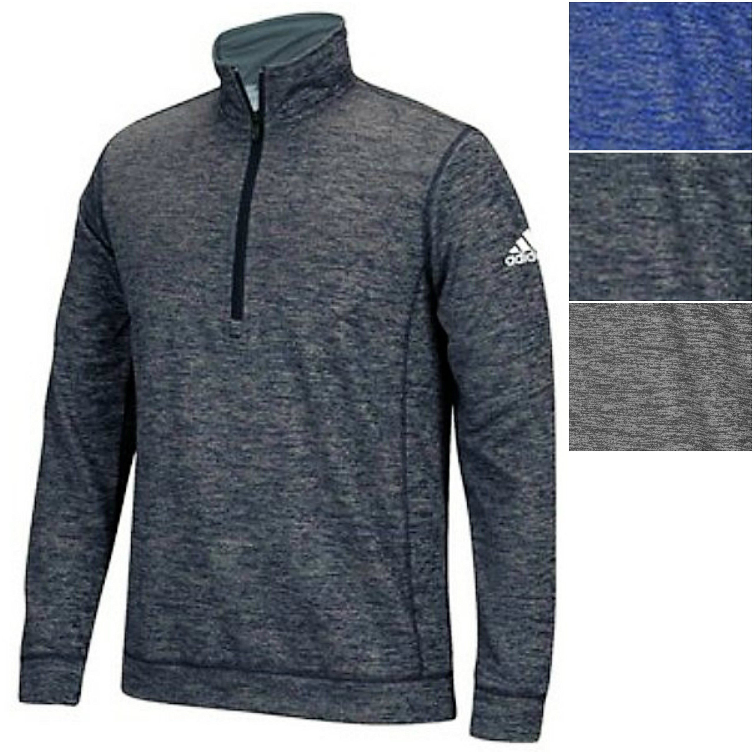 adidas Mens Climawarm Team Issue 1/4 Zip Long Sleeve, Dark Grey Heathered, X-Large by adidas