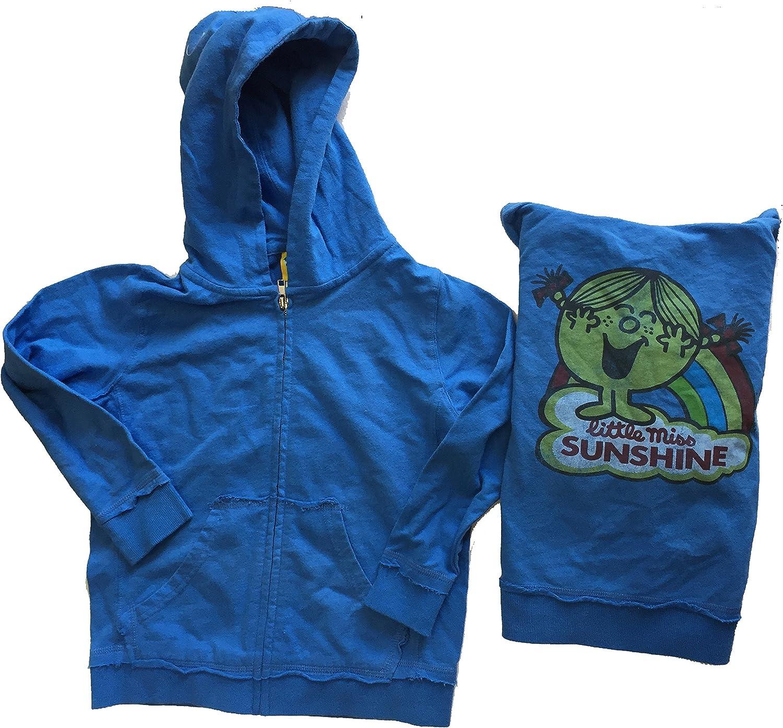 Junk Food Girls Little Miss Sunshine Blue Zip Up Hoodie