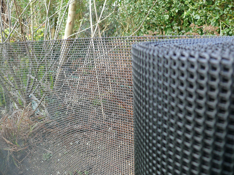 Plastic Garden Fencing 1m x 10m Black 5mm Holes Green Netting Robust ...