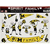 NCAA Michigan Wolverines Spirit Family Window Decals