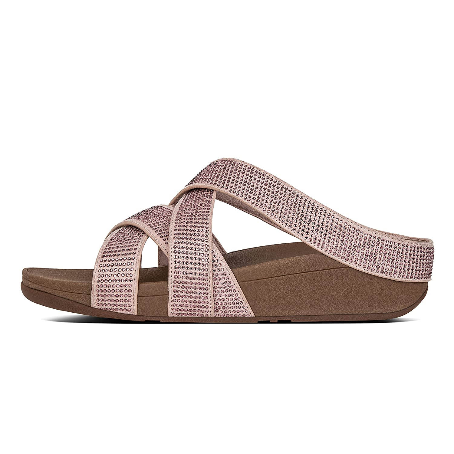 e3a8b05cd Fit Flop Women s Slinky Rokkit Criss Cross Slide Nude Leather Fashion  Sandals - 7 UK India (41 EU)  Buy Online at Low Prices in India - Amazon.in