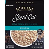 Better Oats Steel Cut Classic Instant Oatmeal with Flax 10 ct Box