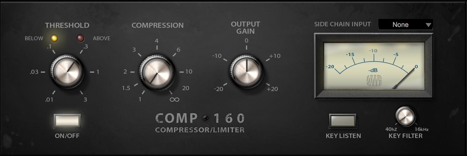 (PreSonus Comp 160 Compressor Fat Channel Plug-in [Online Code])