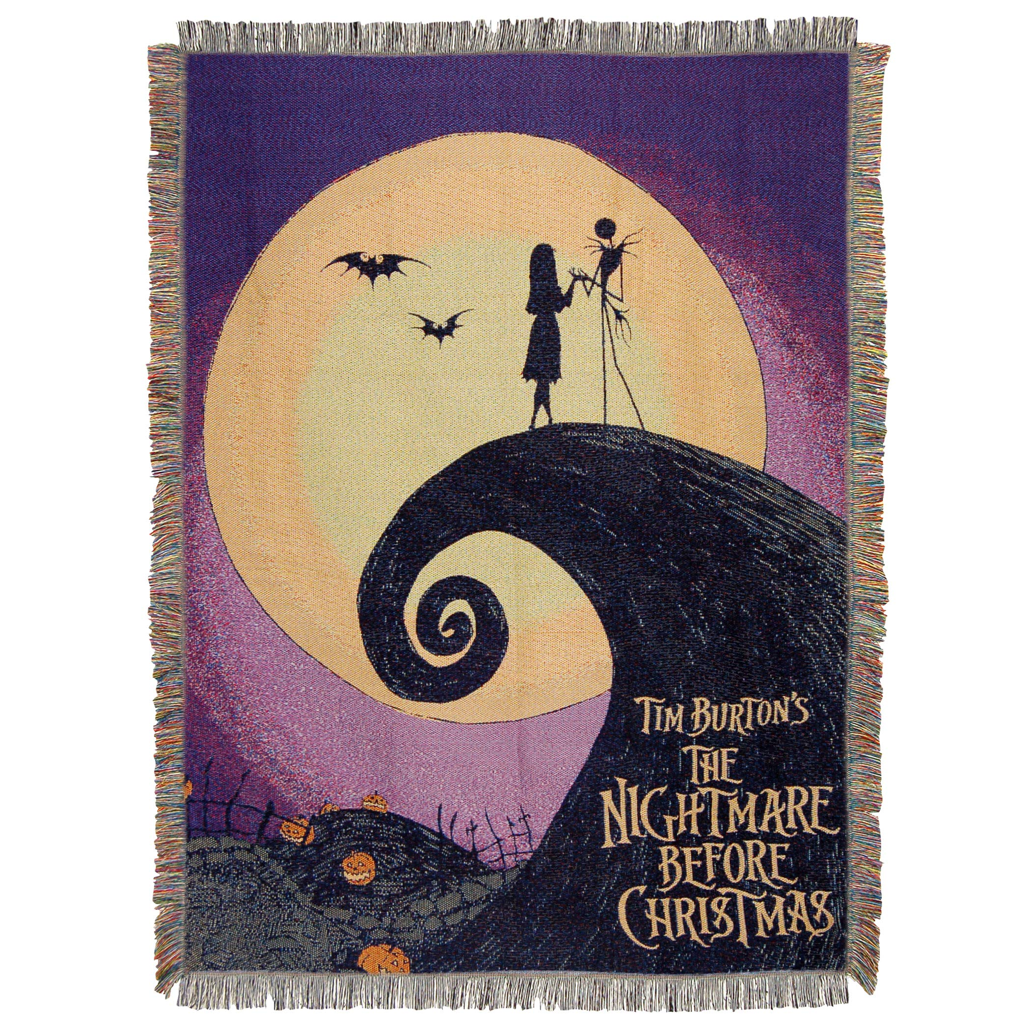 Disney's Nightmare Before Christmas, ''Linework Poster'' Woven Tapestry Throw Blanket, 48'' x 60'', Multi Color by Disney