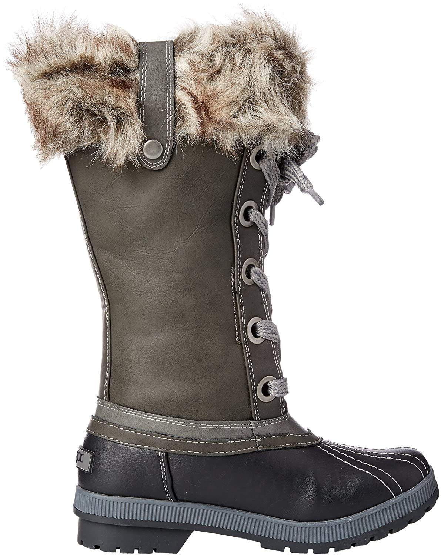 Sugar Women's Marlon Lace-up Snow Boot B076BTT7Z4 10 B(M) US|Black/Grey