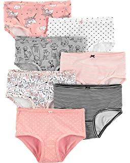 4e34a06c8f5d Amazon.com: Carter's Girls' 7-Pack Print Days Underwear: Clothing