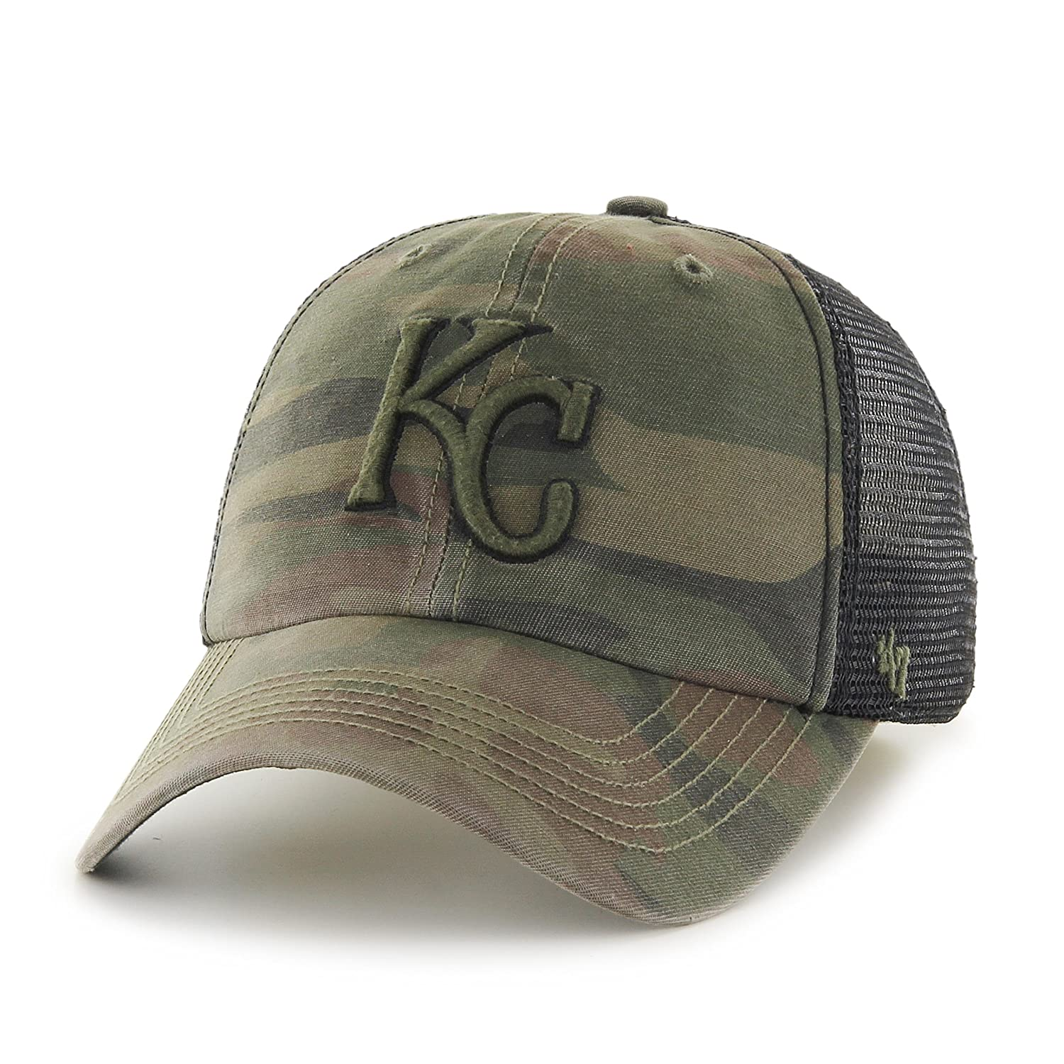 detailed look 5c6e3 bd707 ... official store amazon mlb kansas city royals beaufort closer stretch  fit hat one size sandalwood sports ...