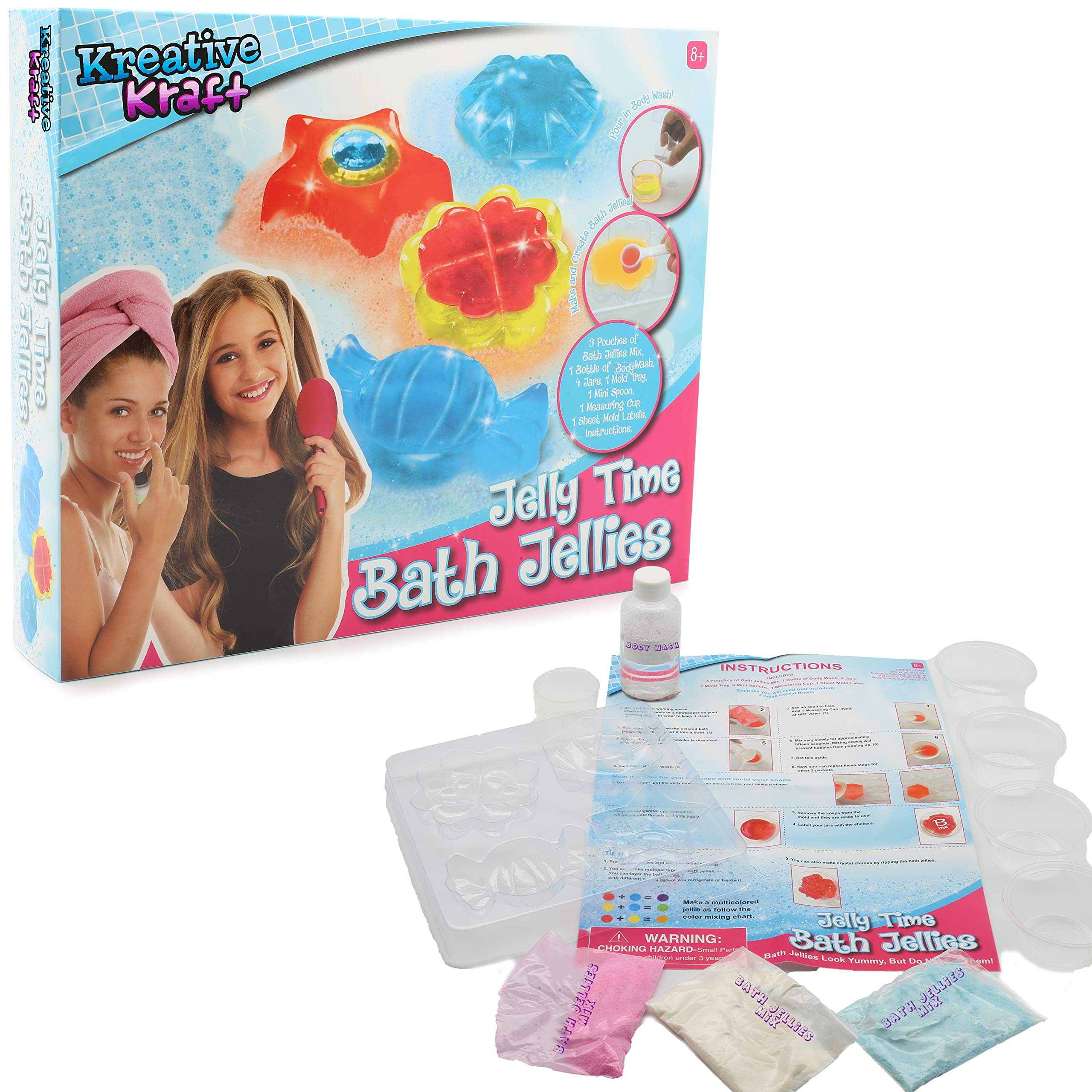 Make Your Own Bath Jelly Slime Bath Star Candy Lucky Charm Shaped Creative Soap Making Kits