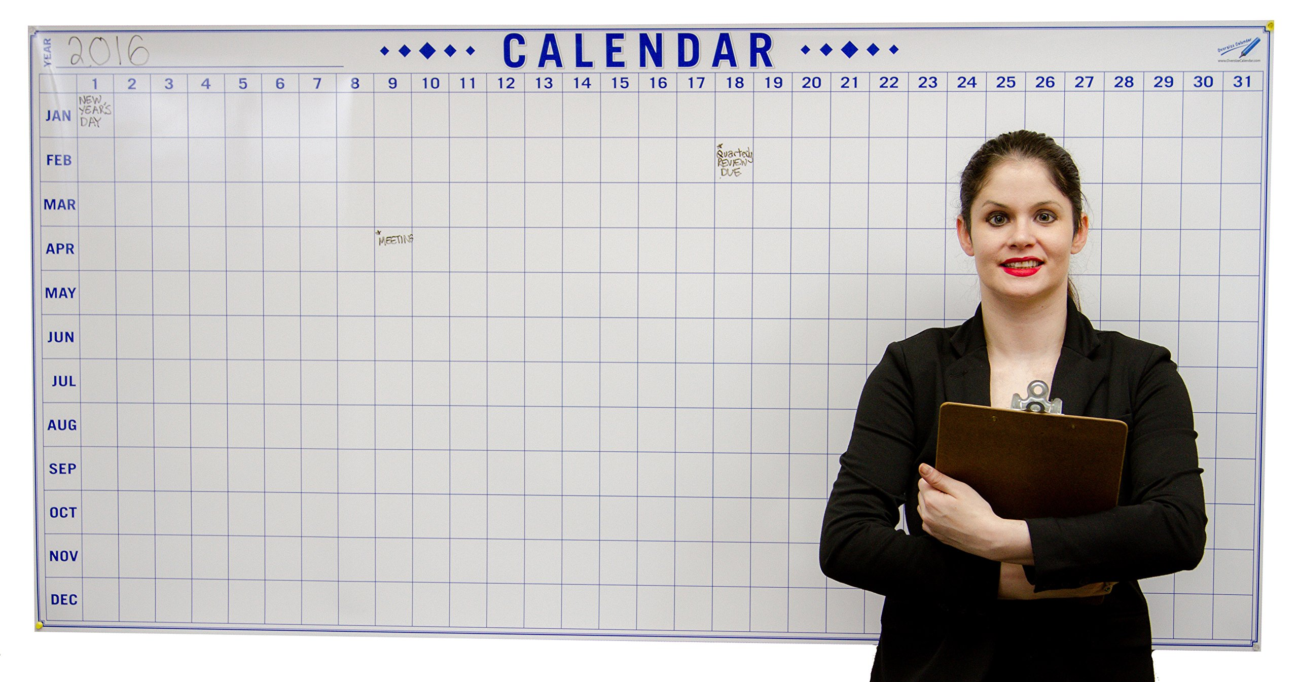 Dry Erase Julian Date Calendar - 36 x 72 Large Dry Erase Wall Calendar - Large Wall Calendar - Reusable Annual Calendar - Wall Planner with Vertical Dates and Horizontal Months by Oversize Planner by ABI Digital Solutions (Image #1)