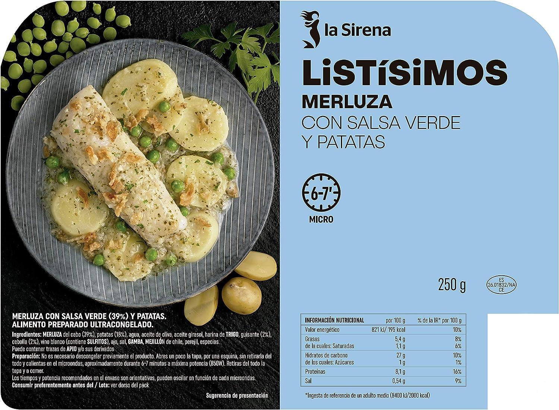 La Sirena Listísimo Merluza con Salsa Verde y Patatas, 250g ...