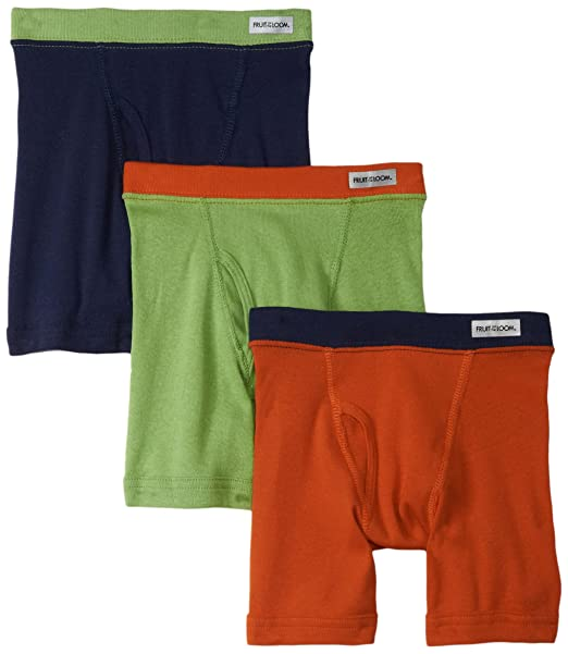 Fruit of the Loom Little Boys Assorted Color Boxer Brief ,Assorted,4T(