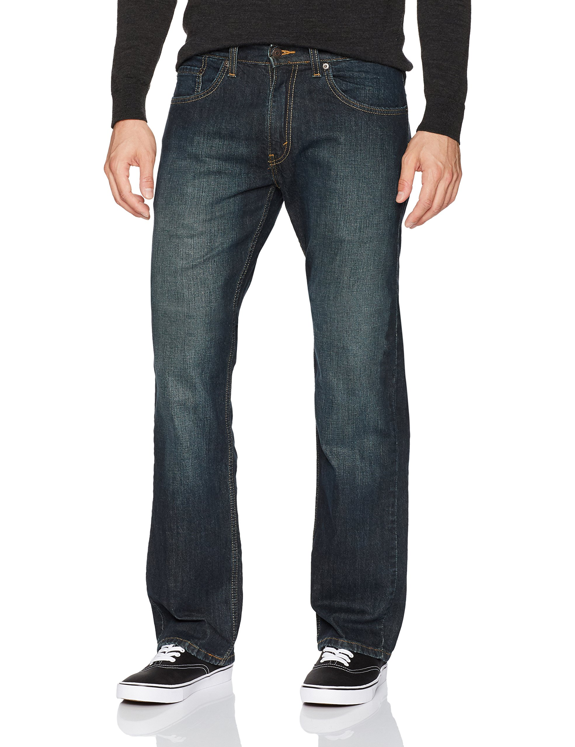 Signature by Levi Strauss & Co. Gold Label Men's Relaxed Fit Jeans, Lakeshore Stretch 36W x 30L
