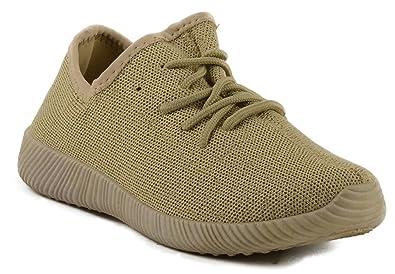 798531f9ca Amazon.com | Qupid Nacara-01 Womens Knit Lace up Sneakers | Fashion ...