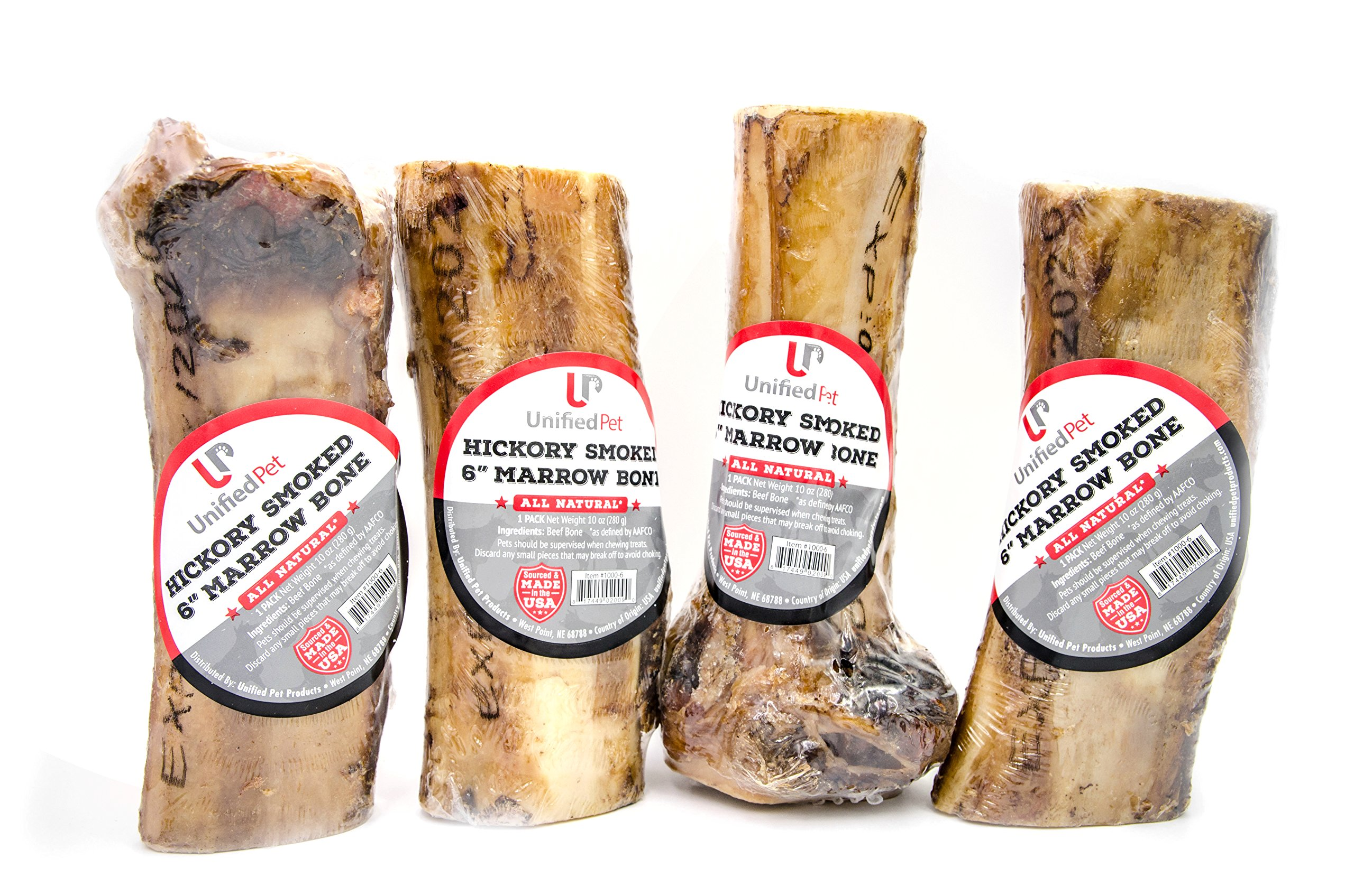 Unified Pet 6'' Marrow Bone-Hickory Smoked, Small, 4 Pack