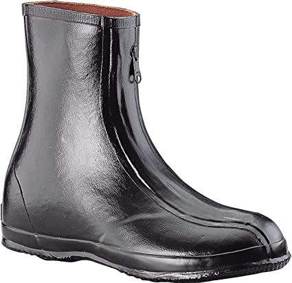 Retro Boots, Granny Boots, 70s Boots Ranger 10 Rubber Oversized Mens Dress Overboots Black (T314) $43.23 AT vintagedancer.com