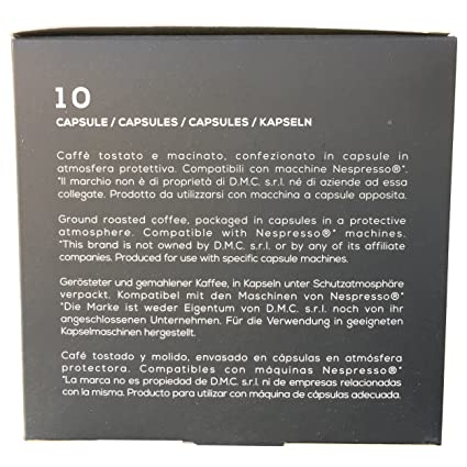 10 Packs Nespresso Compatible Capsules. Roasted Italian Premium Espresso, Manuel Caffe. Medium Roast, Full-Bodied, Rich And Thick Crema. Sweet And Intense.