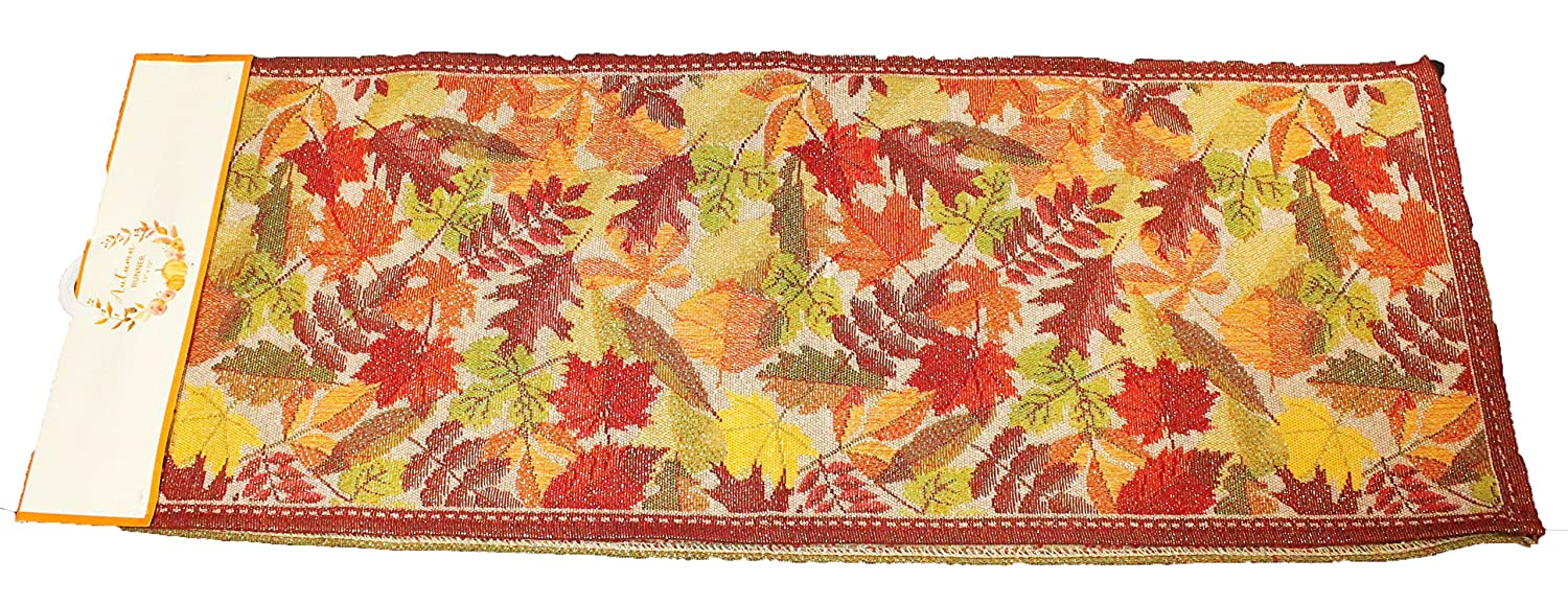 Casual Cotton Fall Table Runners 72 Inch x 13 Sparkly Fall Leaves Table Runner Twisted Anchor Trading Co Fall Table Runner