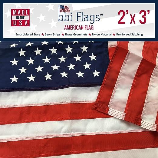 Amazon.com: Bandera americana, 100 % fabricada en Estados ...