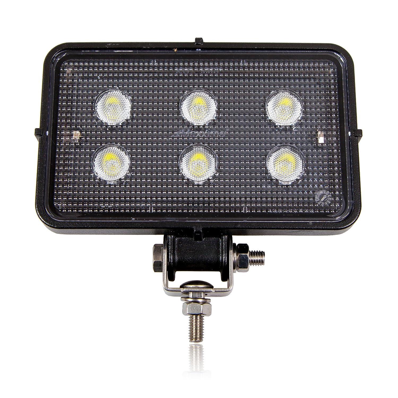 Maxxima MWL-57SP 8 LED Rectangular Flood Beam Work Light 2,150 Lumens