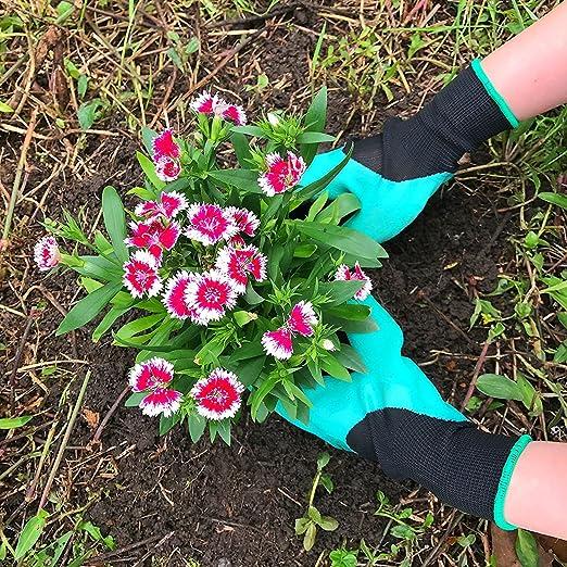 Guanti Da Giardino Giardinaggio Guanti con artigli per scavare e piantare 2 Paia Nuove