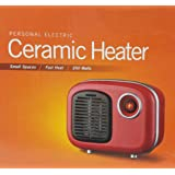 Soleil Personal Electric Ceramic Heater, Red