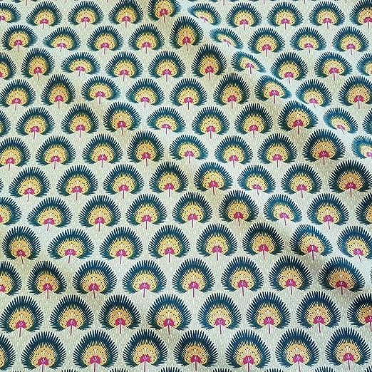 Stoff-Kollektion Tela de algodón por Metros, Color Verde, Amarillo ...