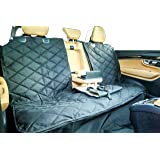 Plush Paws Products Dog Car Seat Cover with Center Console Access and Detachable Hammock — Waterproof and Non-Slip