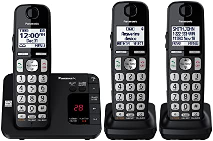 amazon com panasonic kx tge433b cordless phone with answering rh amazon com panasonic home phone instruction manual Panasonic Cordless Phones