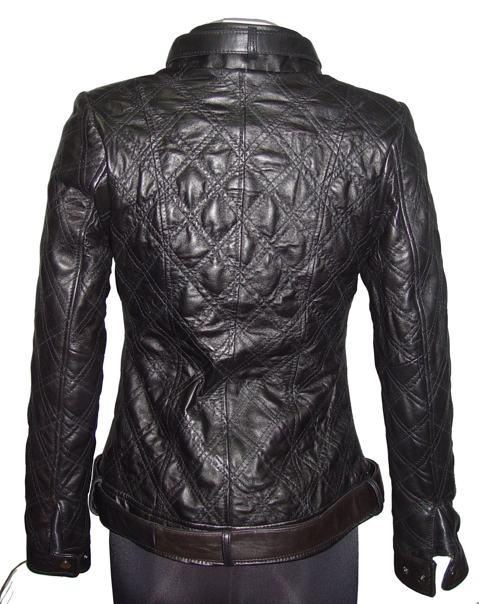 Nettailor Women PETITE & ALL SIZE Fashion 4123 Leather Motorcycle Jacket by Paccilo (Image #3)