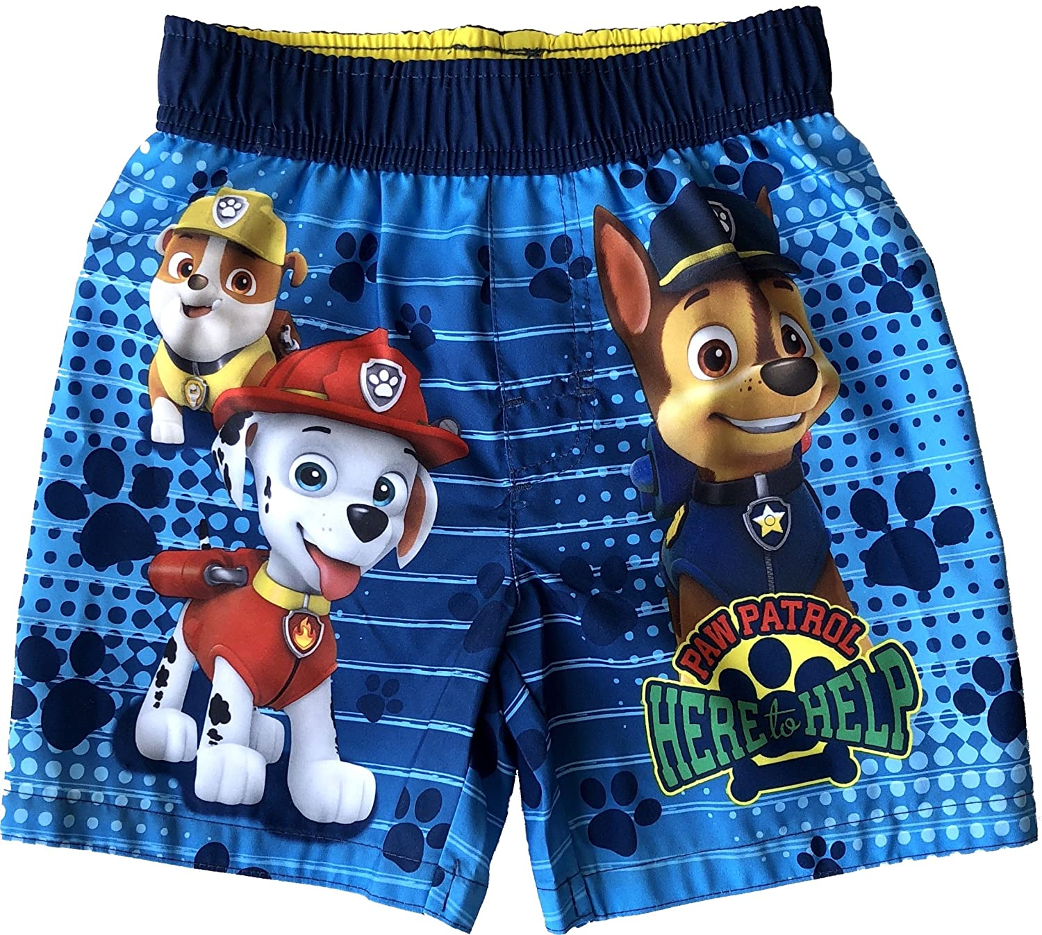 Toddler Boys Paw Patrol Here To Hear Blue Swim Short Trunk