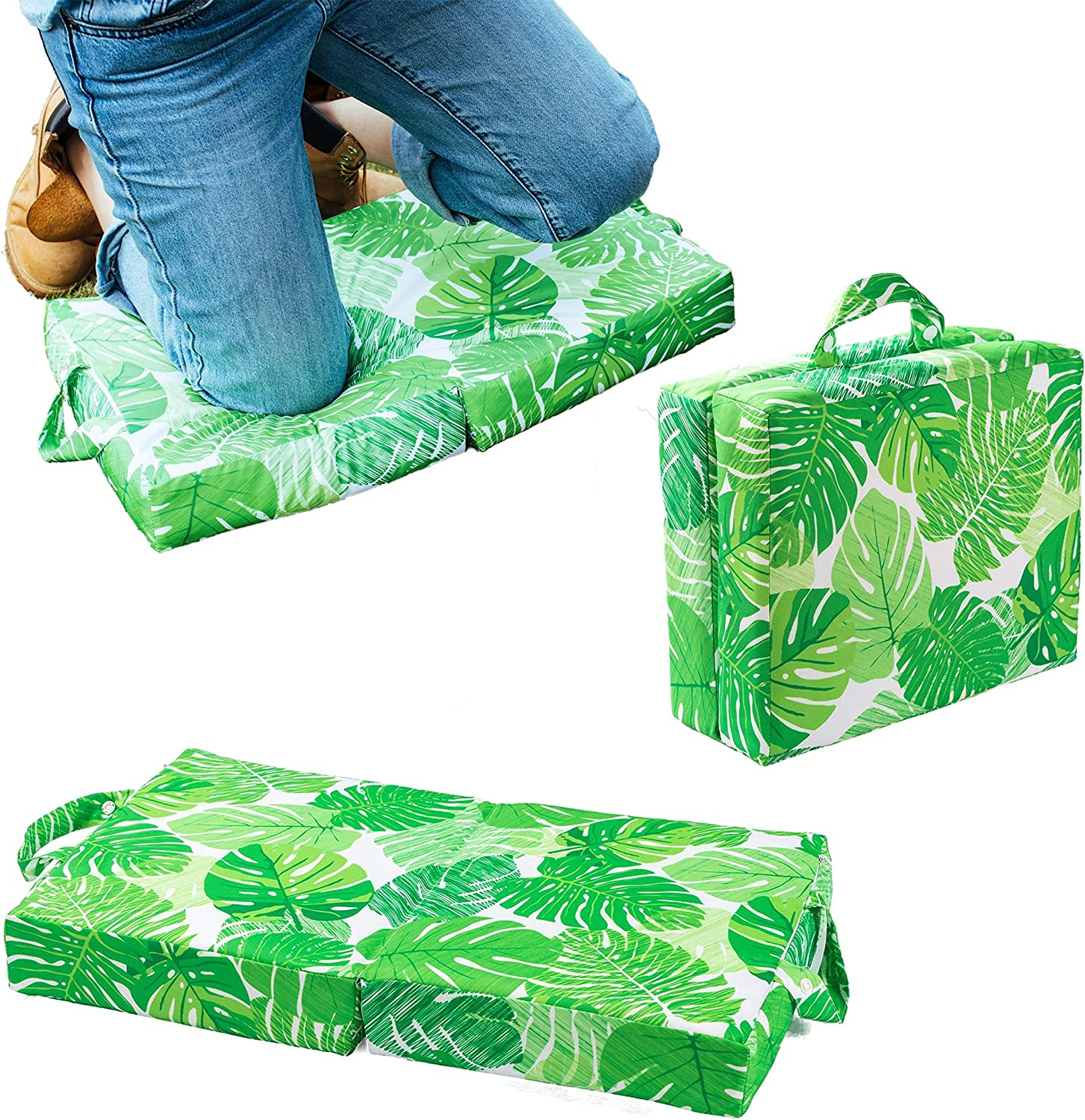 Raise Your Game Garden Kneeling Pad, Knee Protector Cushion Pillow for Garden Work, Large Thick Kneeler Foam Support for Gardening, Waterproof Foldable Mat, Indoor and Outdoor Chores (Green)