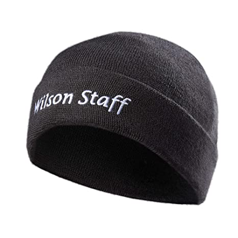 657f891a Amazon.com: Wilson Staff Knitted Golf Beanie: Sports & Outdoors