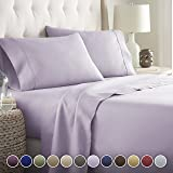 HC COLLECTION Hotel Luxury Bed Sheets Set-ON SALE TODAY! On Amazon-Top Quality Soft Bedding 1800 Series Platinum Collection-100%!Deep Pocket,Wrinkle & Fade Resistant (CalKing,Lavender)