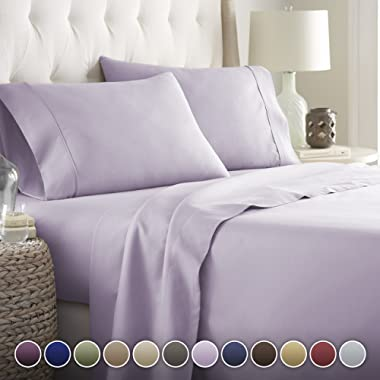 Hotel Luxury Bed Sheets Set- 1800 Series Platinum Collection-Deep Pocket,Wrinkle & Fade Resistant(Queen,Lavender)
