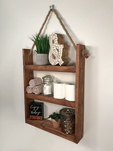 Incroyable Rustic Ladder Shelf  Rustic Wood And Rope Ladder Shelf, Bathroom Organizer,  Entryway Shelf