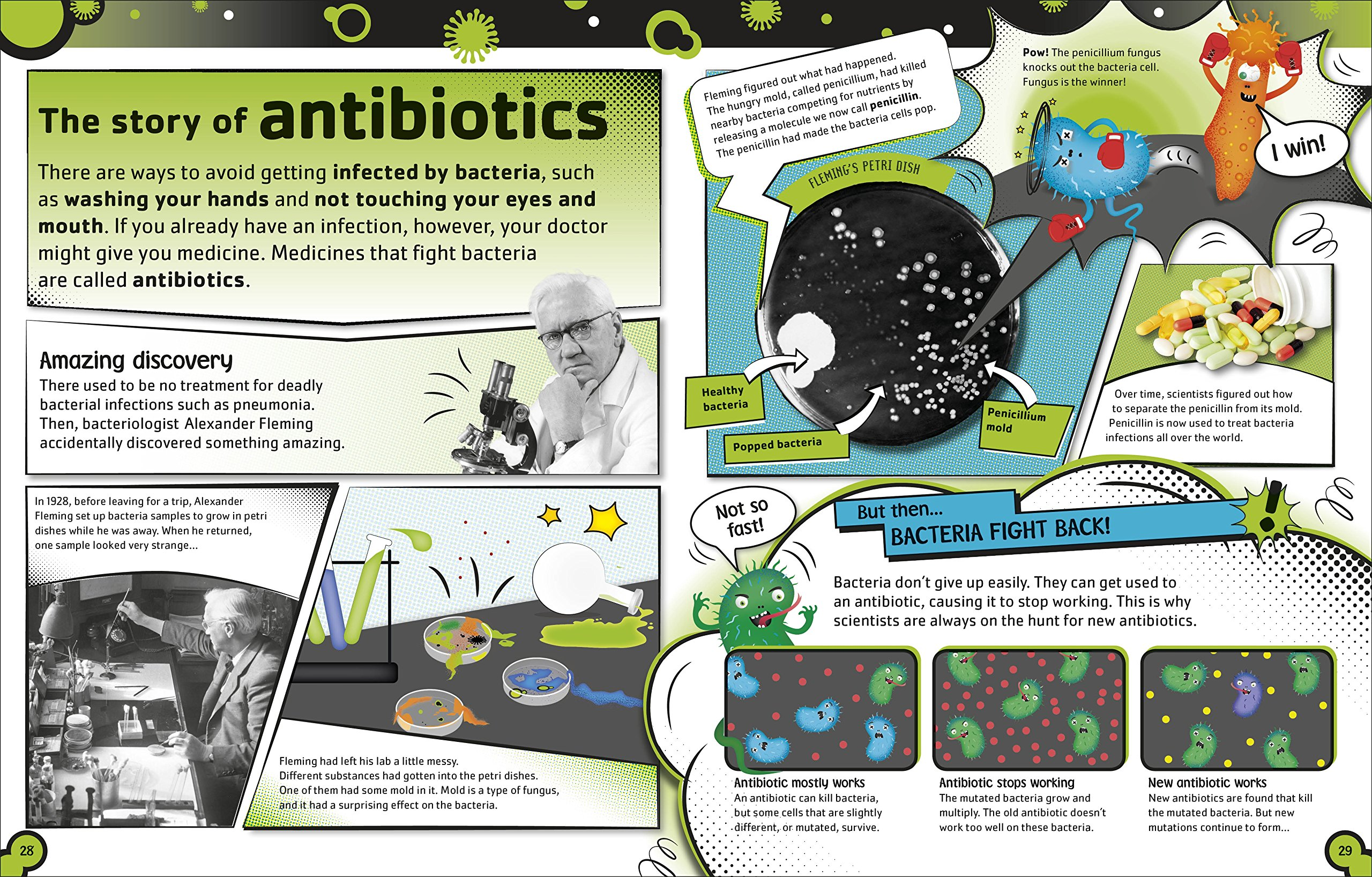 The Bacteria Book: The Big World of Really Tiny Microbes by DK Children (Image #5)