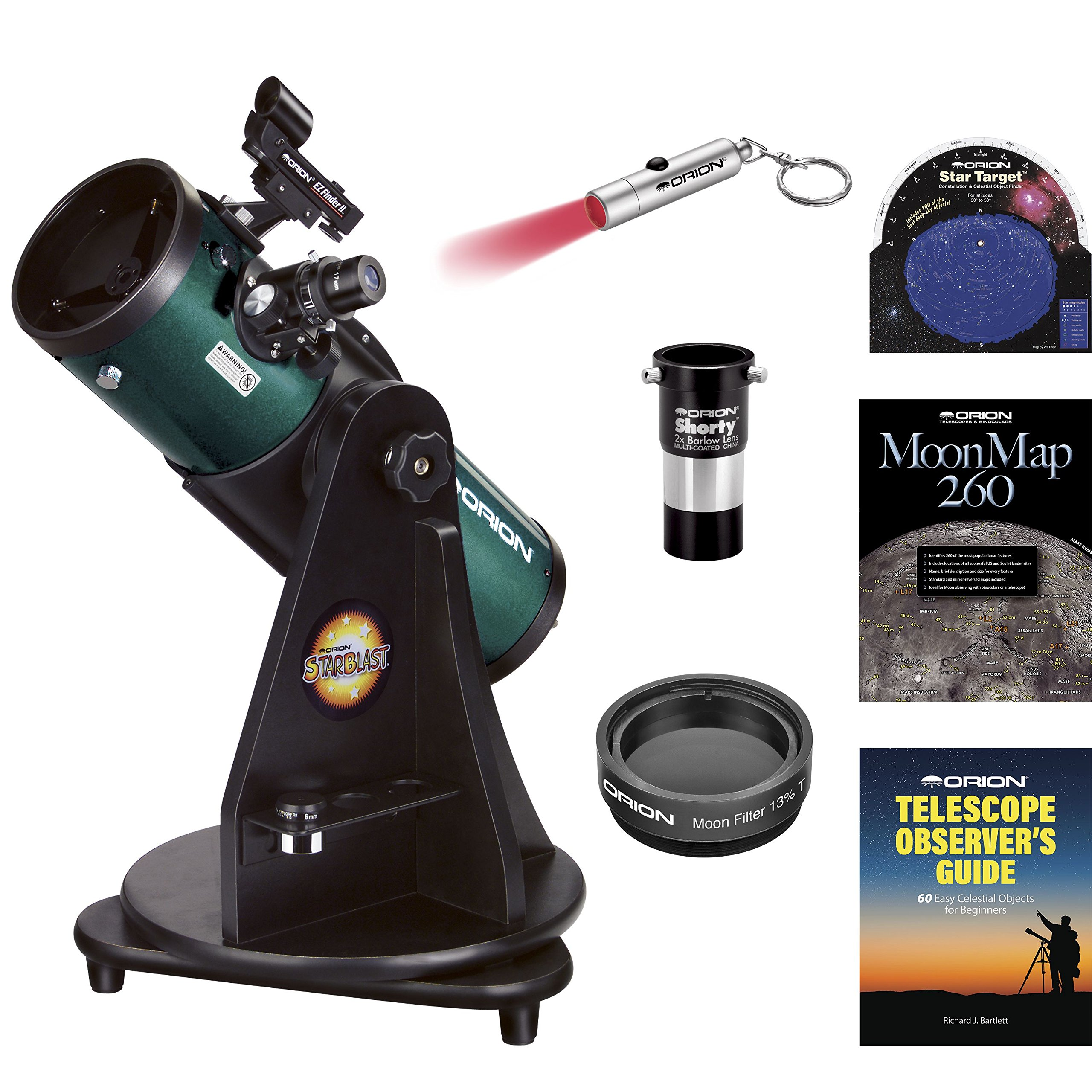 Orion StarBlast 4.5 Astro Reflector Telescope MAX Kit by Orion