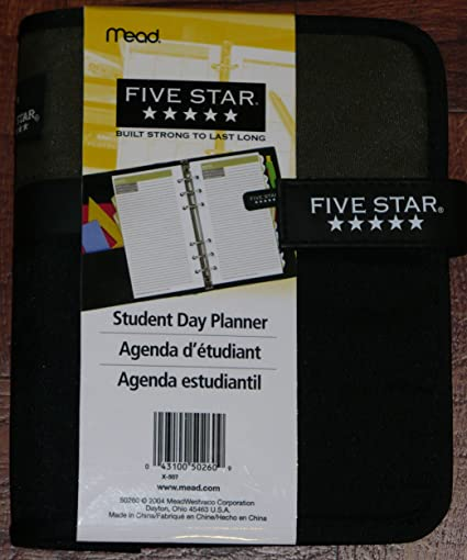 amazon com mead five star student day planner with monthly
