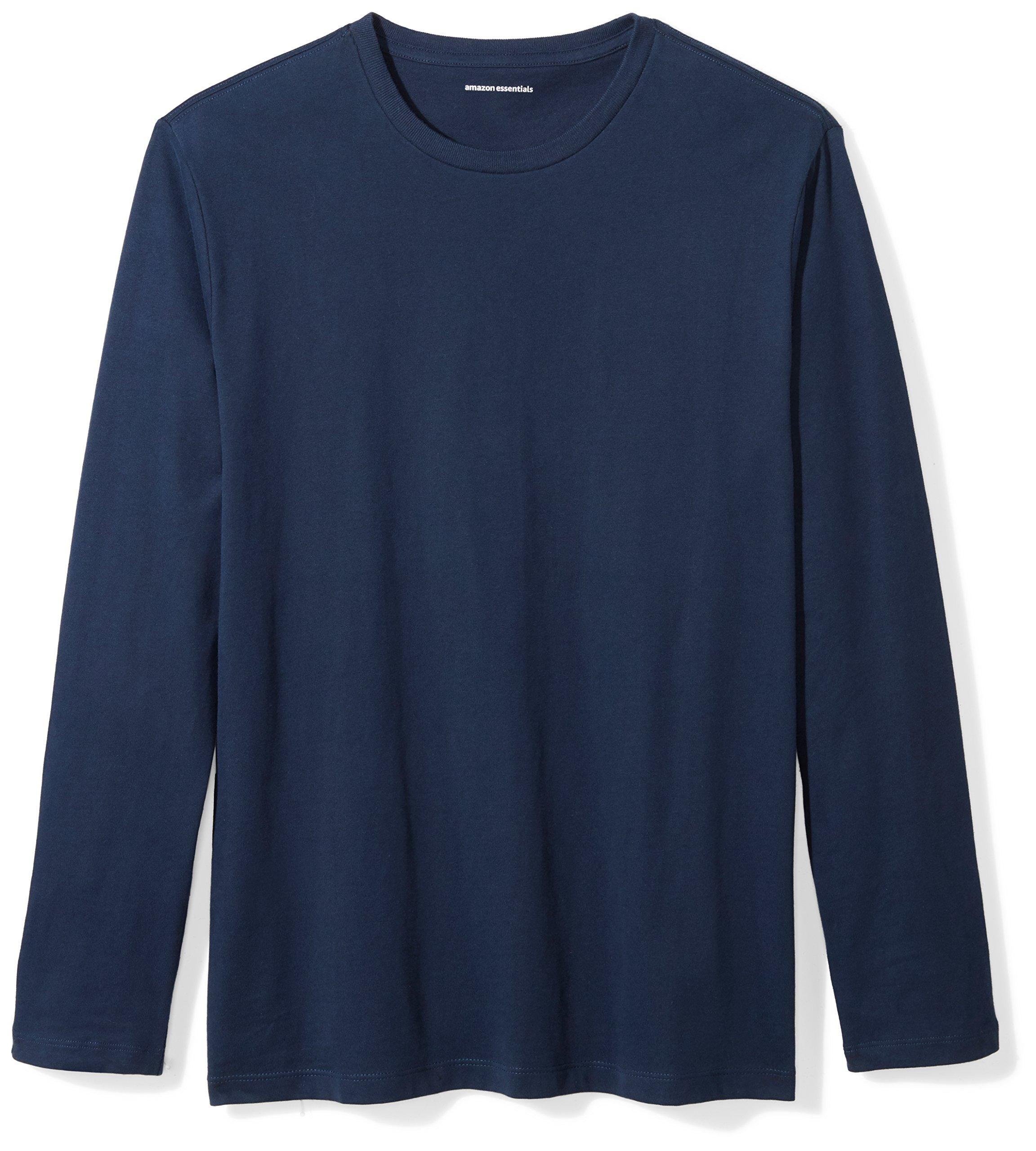 Amazon Essentials Men's Regular-Fit Long-Sleeve T-Shirt, Navy, Medium