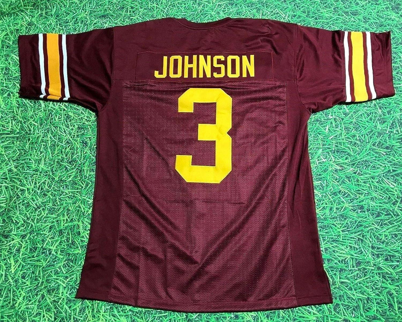 KEYSHAWN JOHNSON MAROON USC CUSTOM STITCHED NEW FOOTBALL JERSEY MEN'S XL