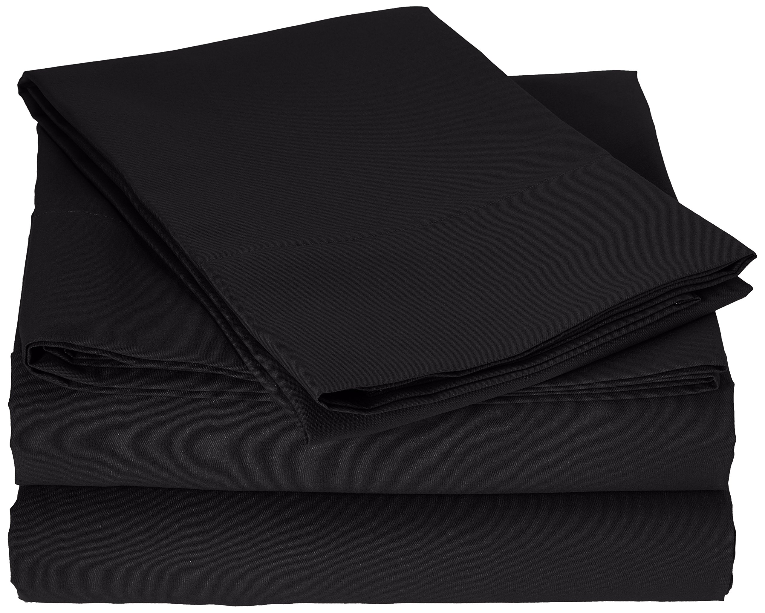 Truly Soft Sheet Sets for Everyday Use Black Twin Sheet by Pem America